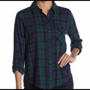Abound Button Down Plaid Flannel